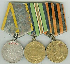 USSR Soviet Russian Original Military Medal Veteran WW2 Order Orden Ordre Medal