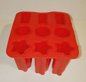 RED FLEXIBLE SILICONE FROZEN TREAT ICE POP SHAPED ICE TUBES POPSICLE MAKER MOLD