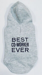 "Dog Sweatshirt Hoodie Coat Best Co-Worker Ever Dog Whisperer Size Small 12-14"""