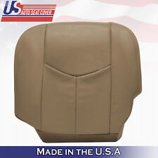 2003 2004 Chevy Silverado truck Driver Bottom Leather Seat Cover Tan