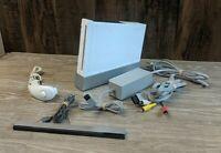 Nintendo Wii Console - RVL-001 with cords, sensor, and Nunchuck, No Controller