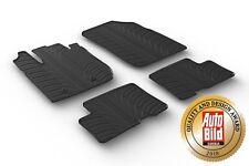 Opel Insignia 2008-2016 Premium Gummi-Fußmatten Gummi matten schwarz 4x CLIPS