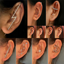 Fashion Zirconia Crystal Earrings Ear Stud Long Threader Women Wedding Jewellery
