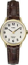 Timex T20071, Easy Reader, Women's, Date, Brown Leather Watch, Indiglo, T200719J
