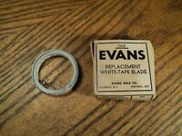 "Vintage Evans Replacement White Tape Rule Blade Tool - 1/4"" X 8' - NIB"