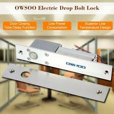 OWSOO Electric Drop Bolt Lock Fail-Safe Secure NC Mode 12V For Home Access US