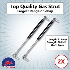 Gas Strut 310mm-200n X2 (8mm Shaft) Caravans Camper Trailers Canopy Toolboxes