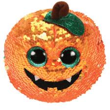 "TY Halloween 6"" Flippables SEEDS Orange Pumpkin Beanie Boos Sequins Plush MWMTs"