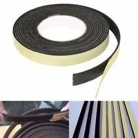 5M Black Single Sided Self Adhesive Foam Tape Sponge Rubber Strip Door Seal 1X