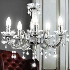 Decken Pendel Hänge Lampe Leuchte Wohn Zimmer Kron Leuchter Luster Chrom H 128cm