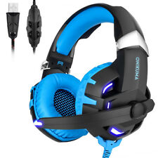 ONIKUMA K2B 7.1 Surround Gaming Headset MIC LED Kopfhörer für PC Mac Laptop PS4