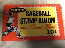 TOPPS 1962 BASEBALL STAMP ALBUM MANTLE AARON + BaseBall Rules in Pictures