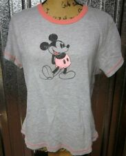MICKEY MOUSE juniors XL ringer tee distressed T shirt Disney Store classic pose