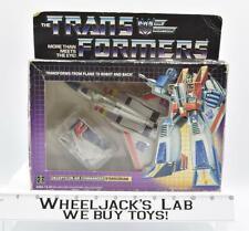 Starscream MIB 100% Complete 1985 Vintage Hasbro Action Figure G1 Transformers