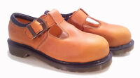 💥 Dr. Martens England Rare Vintage Mustard Steel Toe Mary Janes UK3 US5 💥
