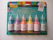 Scribbles 3D Fabric Paint 6 Pack 1oz Iridescent Permanent