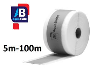 5m - 100m Waterproof Tanking Tape Wet Room System Bathroom Shower AQUA BUILD II