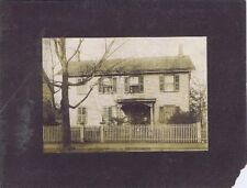 Old House, Old Man With Beard Standing At Picket Fence, Cabinet Photo,1890-1910