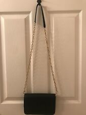 Tory Burch BOMBE Min Black Pebbled Chain Crossbody Bag-retail $275-NWT!