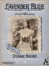 Lavender Blue recorded by Dinah Shore on Columbia