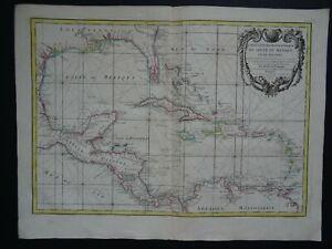 1775 Atlas RIZZI ZANNONI map  GULF of MEXICO - CARIBBEAN - Golfe du Mexique