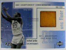 2001 Ud Ovation Michael Jordan 1982 NCAA Champ UNC Game Used Floor #MJF1