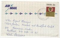 1973 Jul 24th. Air Mail. Nelly Bay to Hannover in West, Germany.