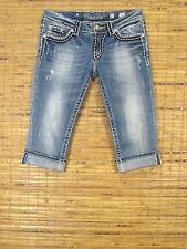 Miss Me Jeans JPS5014CR W27xL19 Low Rise Slim Fit Stretch Cropped Leg CLAYTON