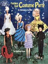 """Crochet Fashion Doll Costume Party - Easy Thread Crochet 11 1/2"""" dolls Barbie"""
