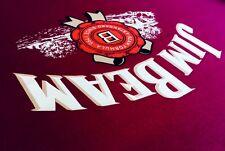 ENGLISH Hainsworth Jim Beam Burgundy Pool Billiard Table Cloth Felt Full kit 7ft