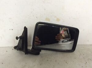1988 Nissan D21 Passenger Right Side View Mirror Manual Black FRONTIER oem