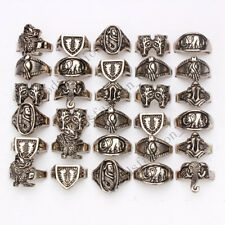 NEW style wholesale lots 10pcs skull carved biker men's alloy rings jewelry FREE
