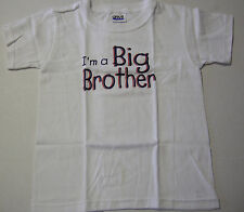 Big Brother T-Shirt In Block Letters, Size  Small (6-8), White, Brand New