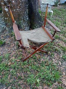 Vintage Century Furniture Wood & canvas  Directors Chair Mid Century Modern