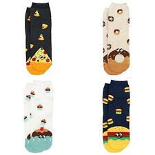 Junk Food Kawaii Womens' Socks. Cupcake, Pizza, Burger or Donut.  UK Size 4-7.5