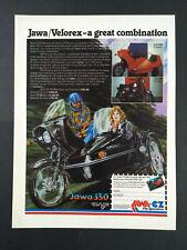 Jawa 350 Velorex - Motocycle & Sidecar - Magazine Advert #B3947