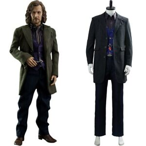 Cosplay Sirius Orion Black Adult Male Costume Party Halloween Suit