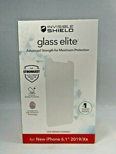 """Glass Elite ZAGG Invisible Shield 6.1"""" for iPhone 2019/Xr New Sealed !!"""