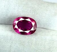 Loose Gemstone Pink Sapphire 8-10 Ct/13mm Natural Ceylon Oval Cut AGI Certified