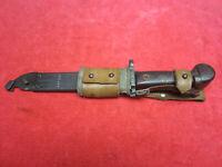 Romanian Type 2 Bayonet  W/Matched Scabbard W/Leather Frog Wrist Strap