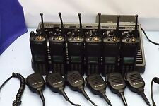 6 Motorola XTS 3000 FLASHport  H09UCH9PW7AN Two-Way FM P 25  Radios Gang Charger