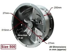 """Industrial Commercial Cased Axial Extractor Duct Fan 500mm (20"""") New"""