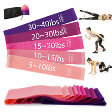 US Workout Resistance Bands Loop Set Fitness Yoga Booty Leg Exercise Band