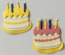 KIDDIE CAKES Dimensional Embellishments(2pc)Jolee's🎂Birthday🎂Candles🎂Party🎂