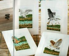 Cross stitch chart. British Birds Cards