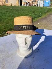 """Chapeau de Paille 1900 """" La Poste """""""