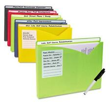 C-line Products Write-on Poly File Jackets, Assorted, 11 X 8 1/2, 10/pk - Letter