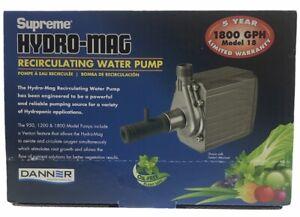 DANNER Supreme Hydro-Mag Recirculating Water Pump 40129 1800 GPH Model 18
