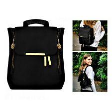 Damen Rucksack Elegant Tasche City Reise Freizeit Handtasche Schule Schwarz