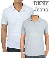DKNY Jeans Mens Short Sleeve Polo Shirt Grey, Blue